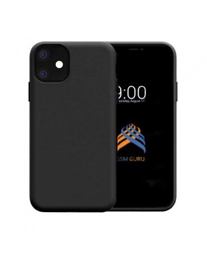 Liquid Siliconen Hoesje iPhone 11 - Zwart