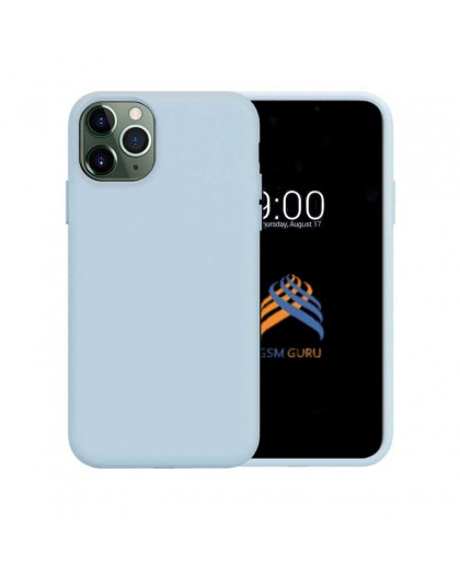 Liquid Silicone Case iPhone 11 Pro - Light Blue