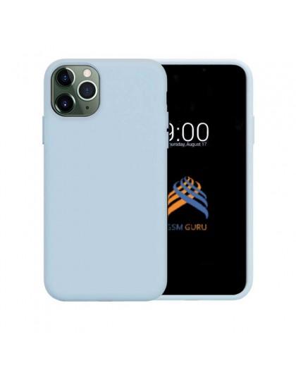 Liquid Siliconen Hoesje iPhone 11 Pro - Lichtblauw