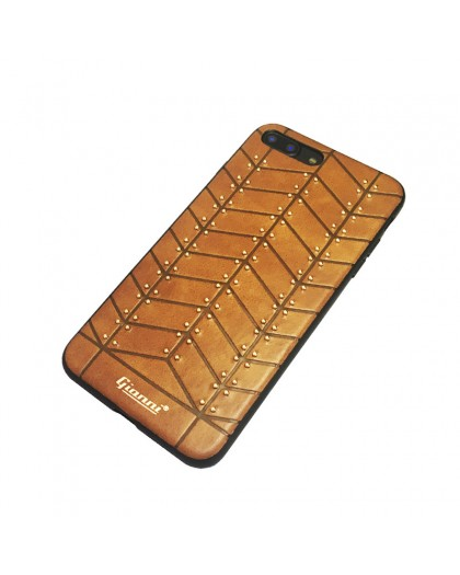 Gianni iPhone 8 Plus / 7 Plus Studded TPU Lederen Hoesje Bruin