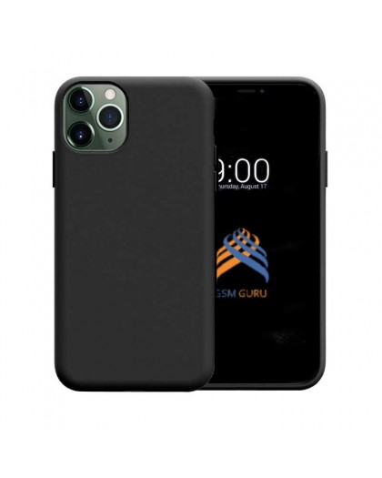 Liquid Siliconen Hoesje iPhone 11 Pro - Zwart