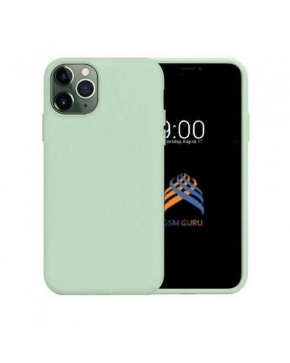 Liquid Siliconen Hoesje iPhone 11 Pro Max - Mintgroen