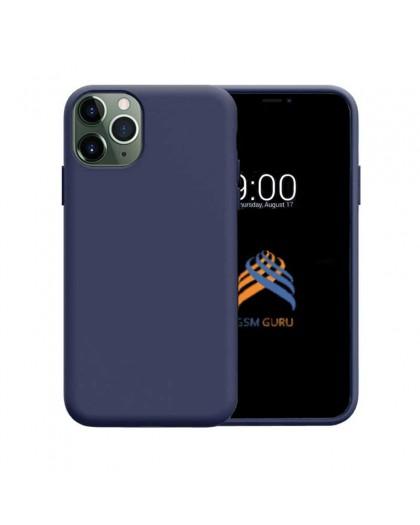 Liquid Siliconen Hoesje iPhone 11 Pro Max - Marineblauw