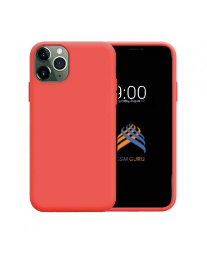 Liquid Silicone Case iPhone 11 Pro Max - Red