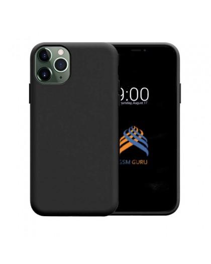 Liquid Siliconen Hoesje iPhone 11 Pro Max - Zwart