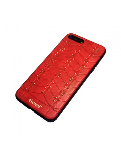 Gianni iPhone 8 Plus / 7 Plus Studded TPU Lederen Hoesje Rood