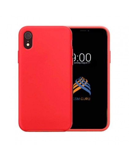 Liquid Silicone Case iPhone XR - Rood