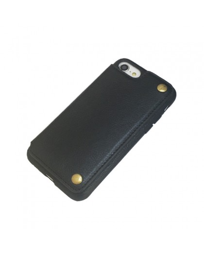Gianni iPhone 8 / 7 Card Series TPU Leather Case Black