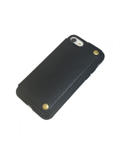 Gianni iPhone 8 / 7 Kartenserie TPU Ledertasche Schwarz