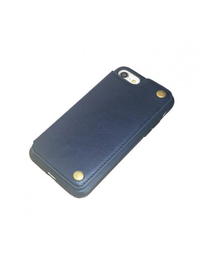 Gianni iPhone 8 / 7 Kartenserie TPU Ledertasche Blau