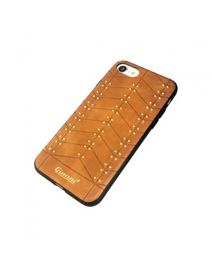 Gianni iPhone 8 / 7 Nieten TPU Ledertasche Braun