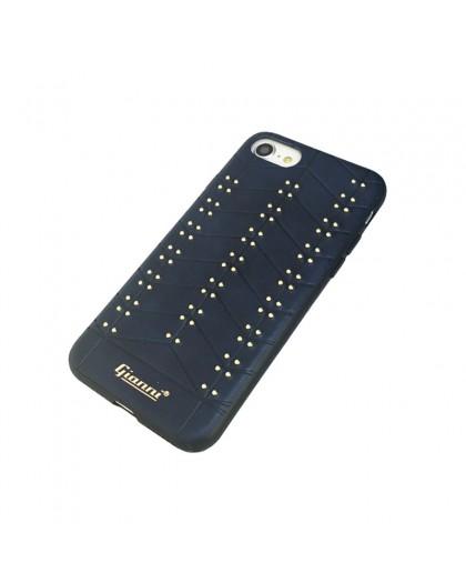 Gianni iPhone 8 / 7 Nieten TPU Ledertasche Blau