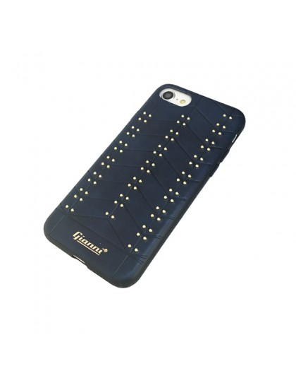 Gianni iPhone 8 / 7 Studded TPU Leather Case Blue