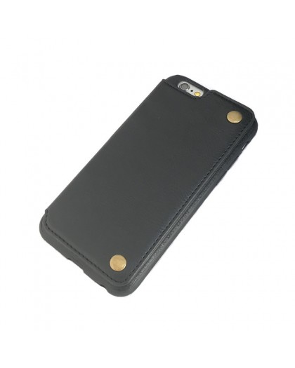 Gianni iPhone 6 / 6S Card Series TPU Leather Case Black