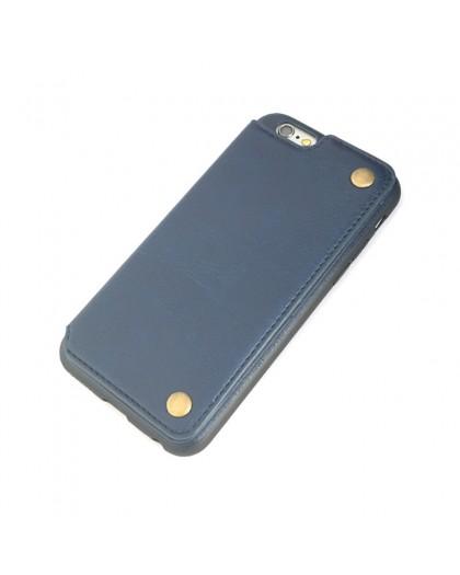 Gianni iPhone 6 / 6S Card Series TPU Lederen Case Blauw