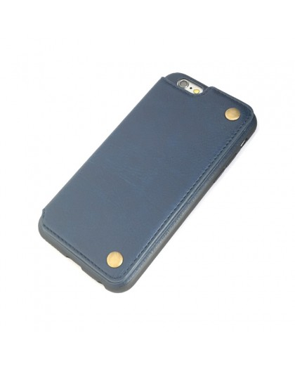 Gianni iPhone 6 / 6S Kartenserie TPU Ledertasche Blau