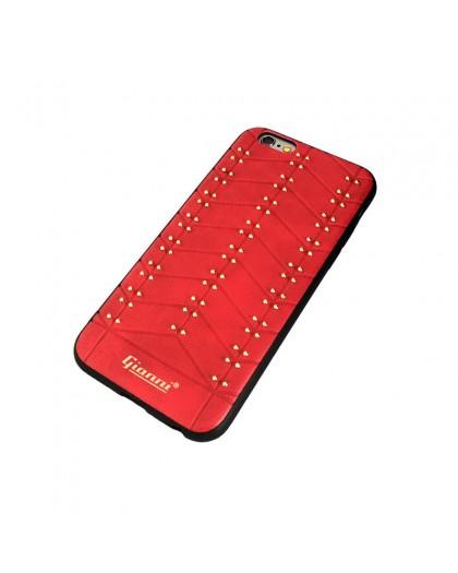 Gianni iPhone 6 / 6S Studded TPU Lederen Hoesje Rood