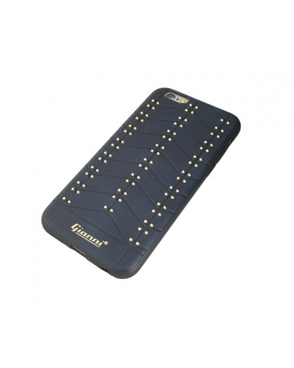Gianni iPhone 6 / 6S Nieten TPU Ledertasche Blau