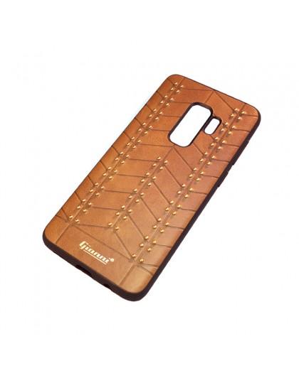 Gianni Galaxy S9 Plus Nieten TPU Ledertasche Braun