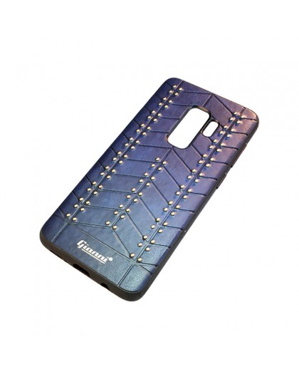 Gianni Galaxy S9 Plus Studded TPU Leather Case Blue
