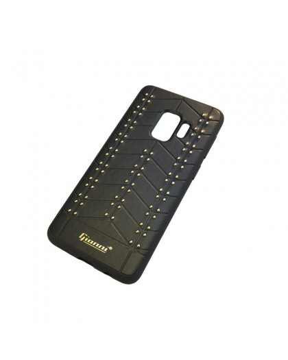 Gianni Galaxy S9 Studded TPU Leather Case Black