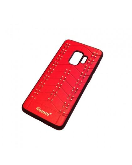 Gianni Galaxy S9 Studded TPU Leather Case Red