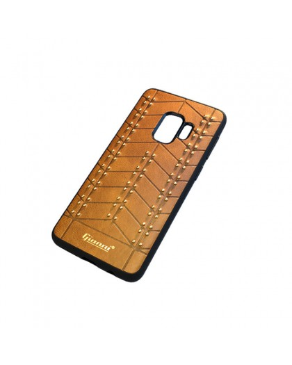 Gianni Galaxy S9 Studded TPU Leather Case Brown