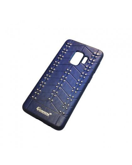 Gianni Galaxy S9 Studded TPU Leather Case Blue