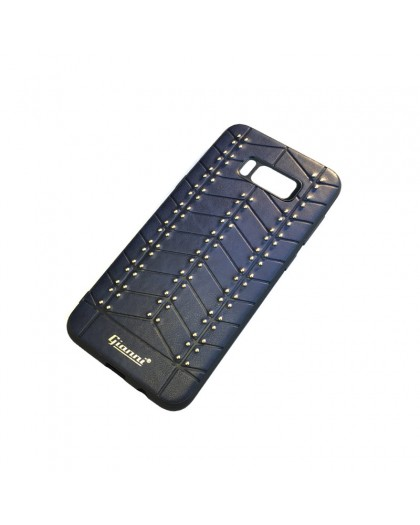 Gianni Galaxy S8 Plus Studded TPU Leather Case Blue