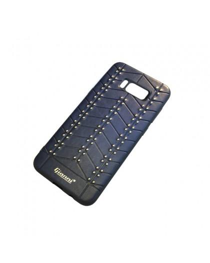 Gianni Galaxy S8 Plus Studded TPU Lederen Hoesje Blauw