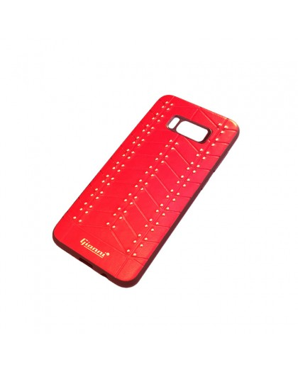 Gianni Galaxy S8 Plus Studded TPU Leather Case Red