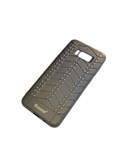 Gianni Galaxy S8 Plus Studded TPU Lederen Hoesje Zwart