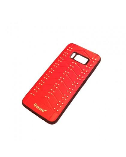 Gianni Galaxy S8 Nieten TPU Ledertasche Rot