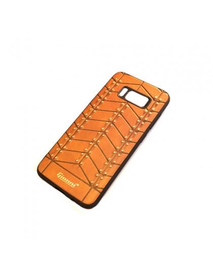 Gianni Galaxy S8 Nieten TPU Ledertasche Braun