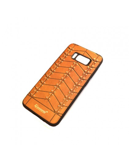 Gianni Galaxy S8 Studded TPU Leather Case Brown