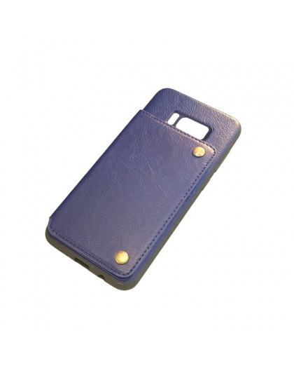 Gianni Galaxy S8 Plus Card Series TPU Leather Case Blue