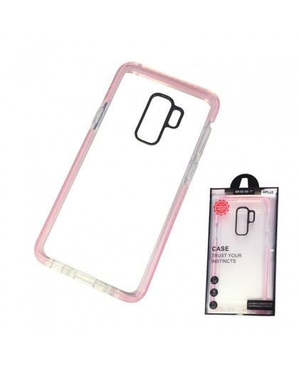 Gianni Galaxy S9 Plus Pink Bumper Case Extremely Shockproof