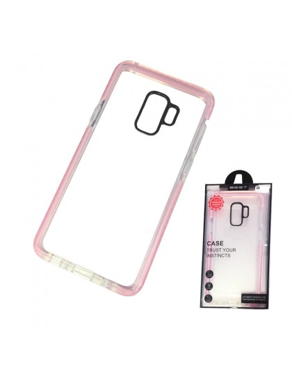 Gianni Galaxy S9 Pink Bumper Case Extremely Shockproof