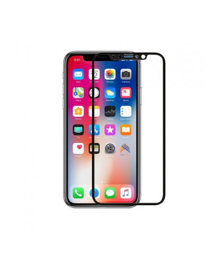 5D Black Tempered Glass Screen Protector For iPhone X