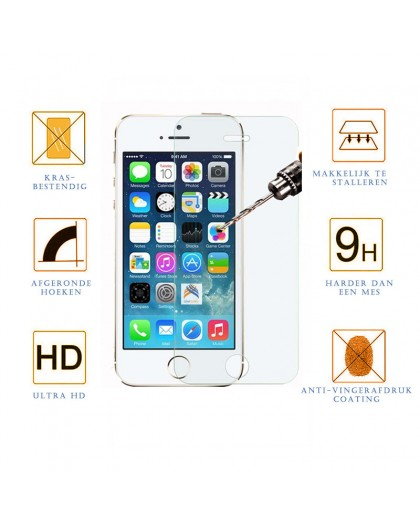 Tempered Glass Screenprotector Voor iPhone 5 / 5C / 5S /SE