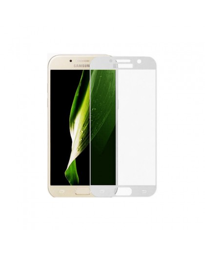 Gehärtetes Glas Full Cover Weiss Displayschutz Samsung Galaxy A3 2017