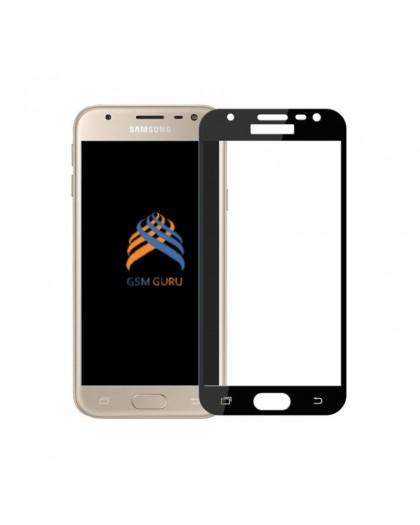 Gehärtetes Glas Full Cover Schwarz Displayschutz Samsung Galaxy J3 2017