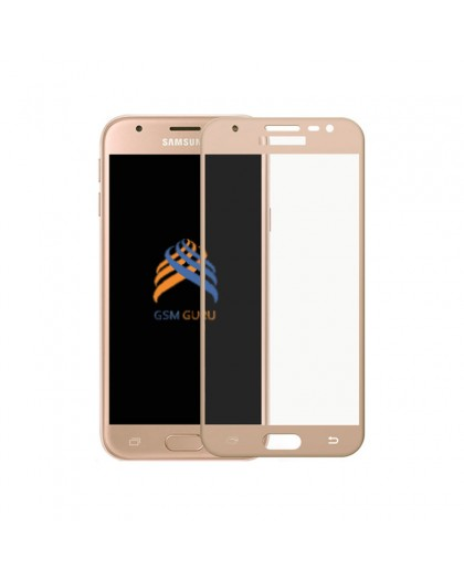 Gehärtetes Glas Full Cover Gold Displayschutz Samsung Galaxy J3 2017