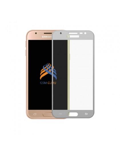 Gehärtetes Glas Full Cover Weiss Displayschutz Samsung Galaxy J3 2017