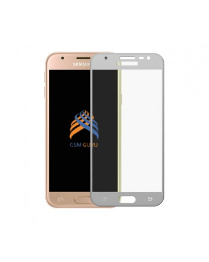 Tempered Glass Full Cover White Screen Protector Samsung Galaxy J3 2017